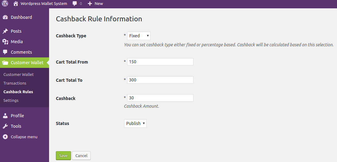 WooCommerce Wallet System