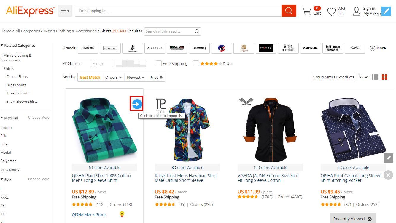 webkul-aliexpress-akeneo-category-page-importer