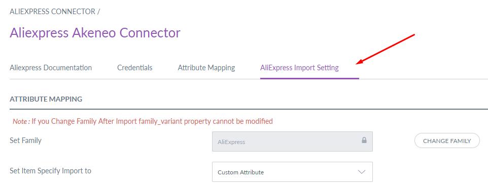 webkul-aliexpress-akeneo-importer-settings