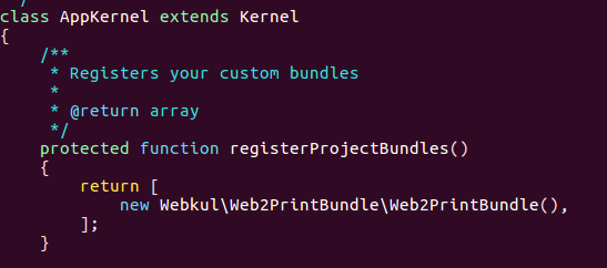 Adding Web2Print Bundle