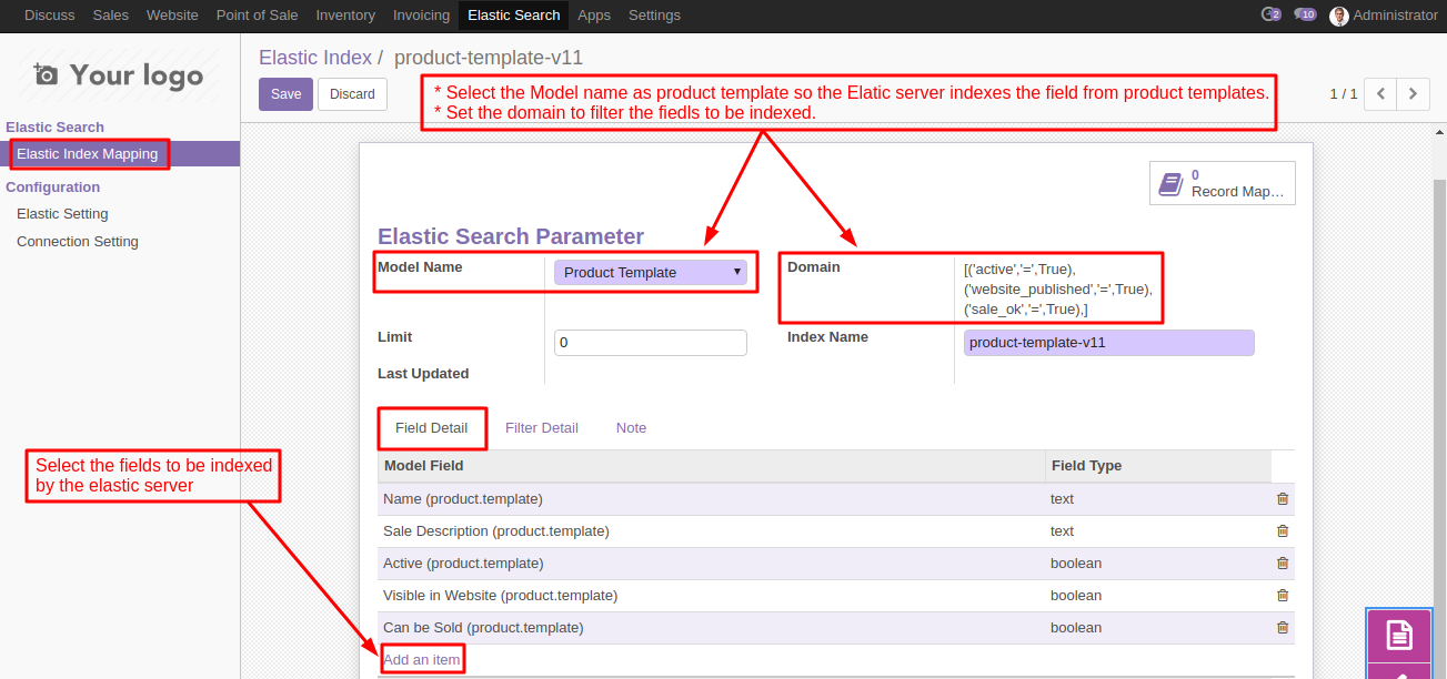 Odoo Smart Search using Elasticsearch | Use Elasticsearch to