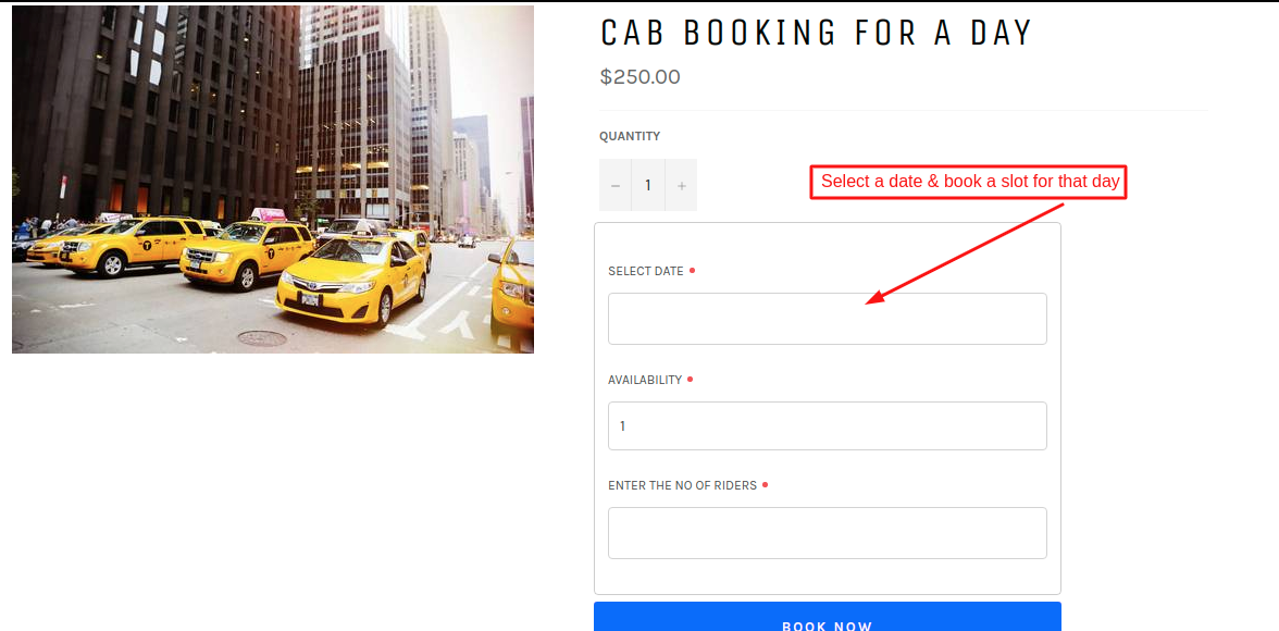 One day booking