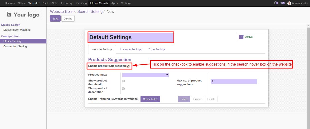 Odoo Smart Search using Elasticsearch 5