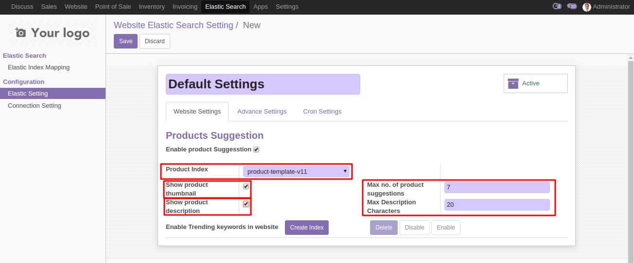 Odoo Smart Search using Elasticsearch 6