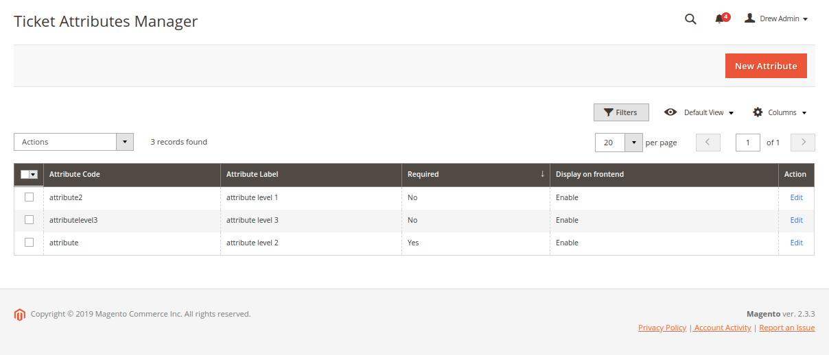 Magento 2 Helpdesk - Manage Ticket Custom Attribute