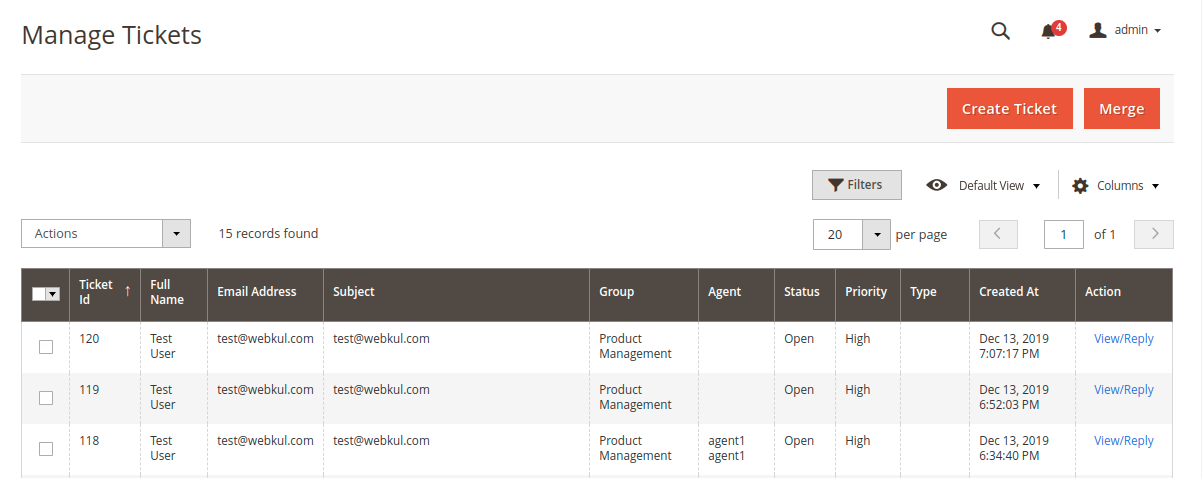 Magento 2 Helpdesk Create Ticket