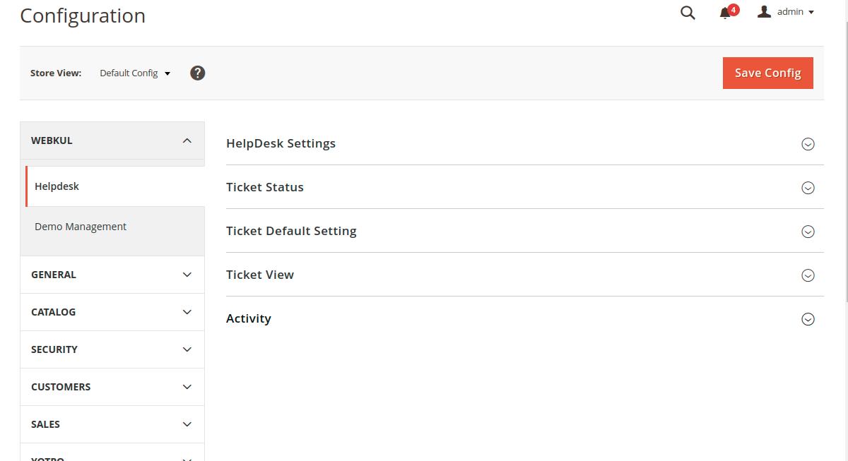 Magento 2 Helpdesk Configuration