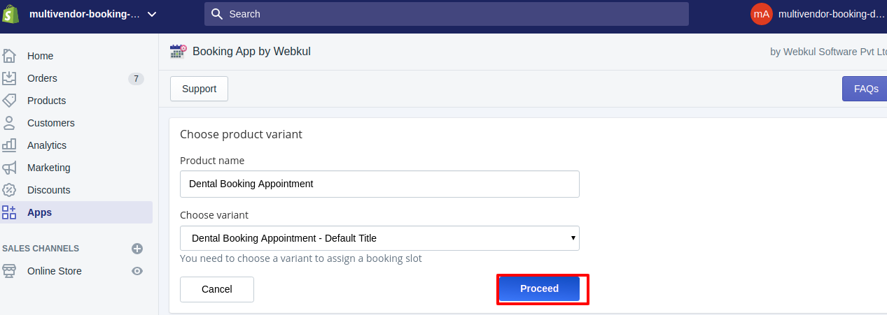 multivendor booking demo Booking App by Webkul