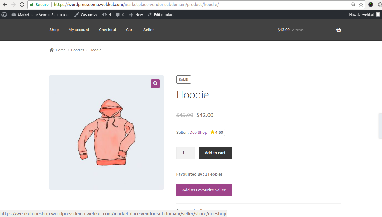 WooCommerce Marketplace Vendor Subdomain