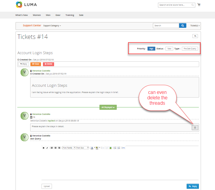 frontend-ticket-view