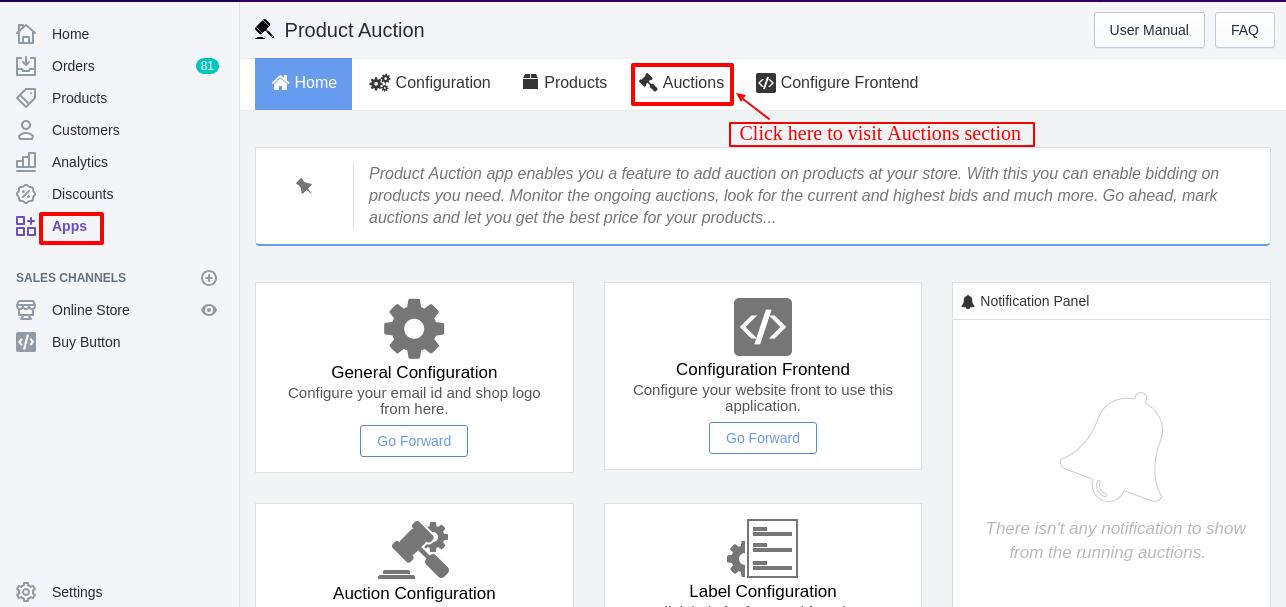 Product Auction App