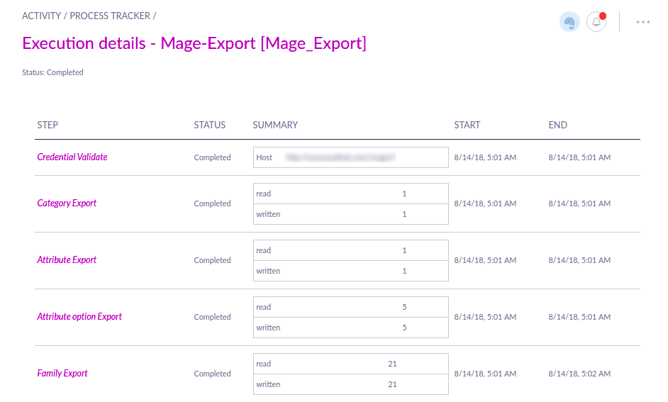 Magento 1 Export Status