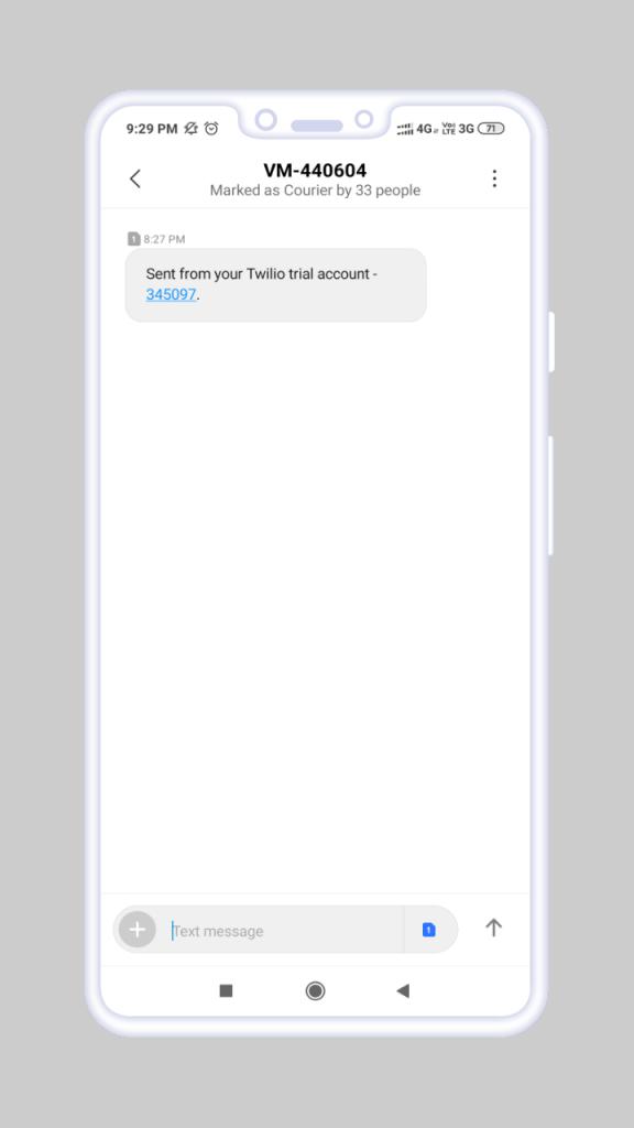OTP (One Time Password)_Verification