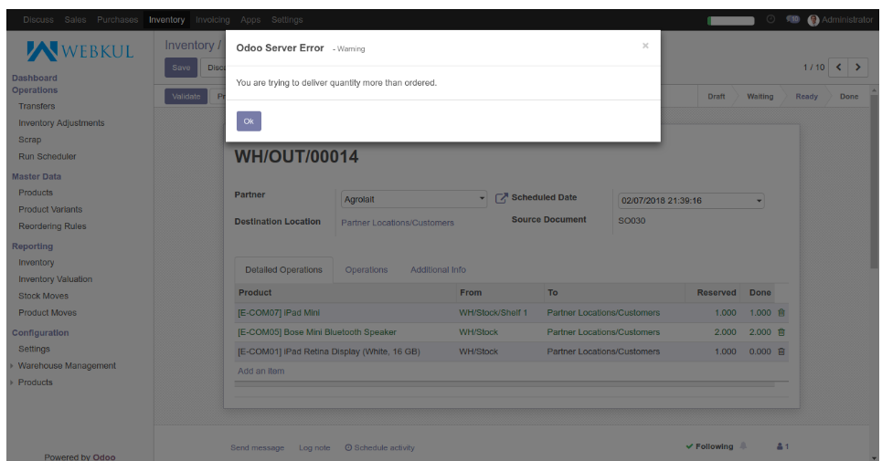Odoo Advanced Barcode Scanning | Scan Inventory/ SO/ PO and