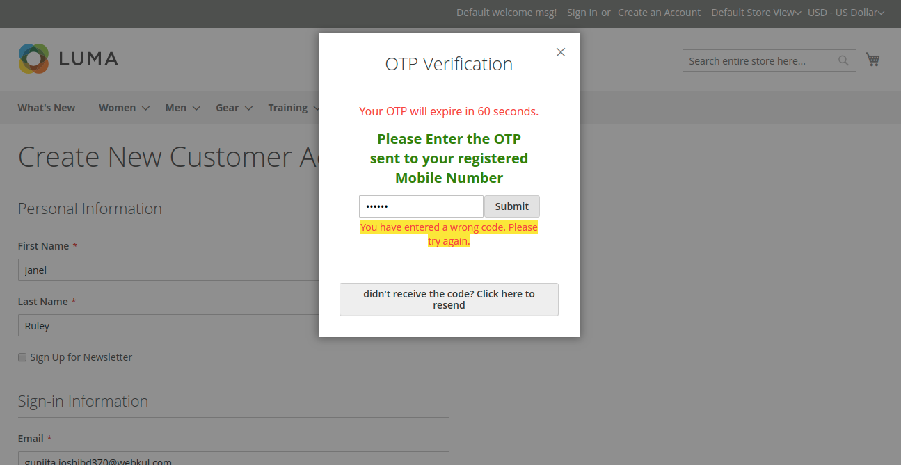 OTP (One Time Password)_wrong_mobile-otp