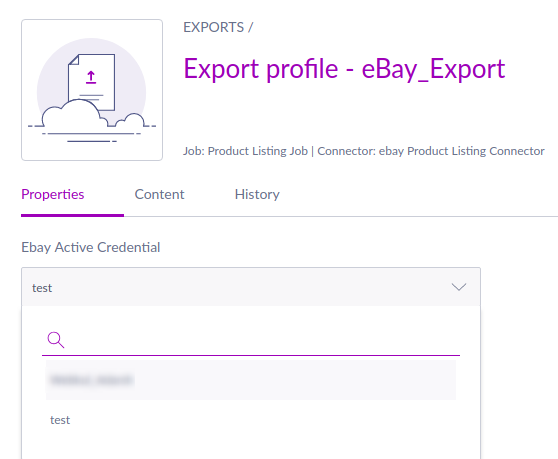 Manage the export profile