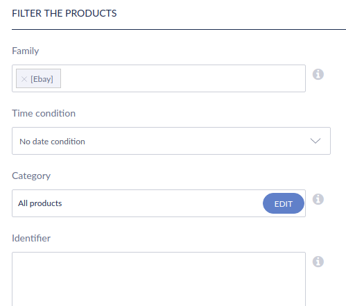 Filter the products