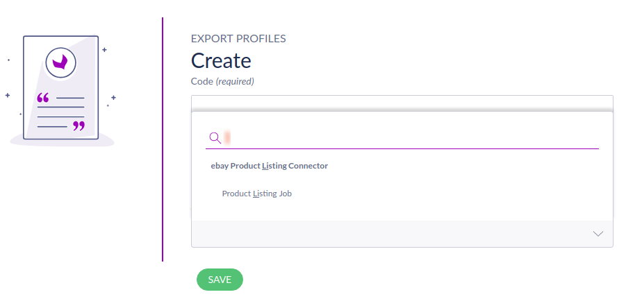 Choose export profile