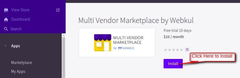 my marketplace control panel