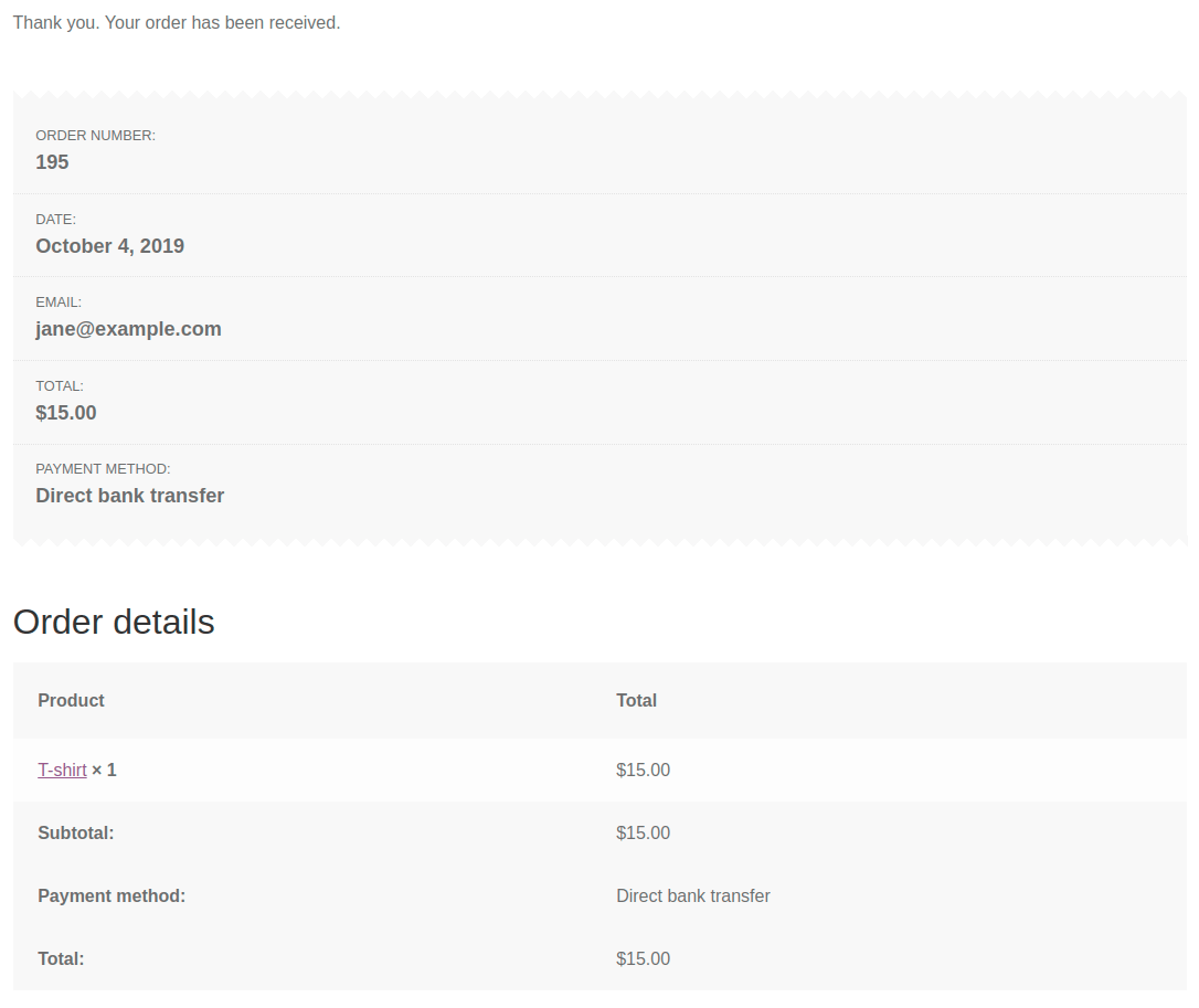 Remaining amount order id