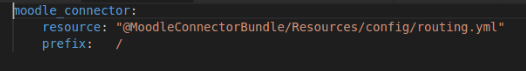 Add code in routing.yml