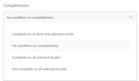 Filter with completeness in Akeneo