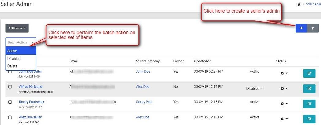 seller's admin of BigCommerce MultiVendor Marketplace
