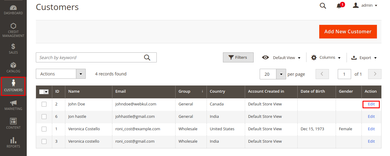 webkul-magento2-customer-credit-system-customer-list