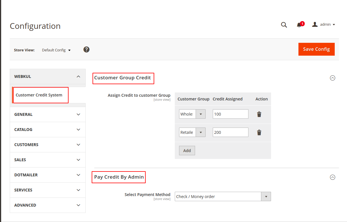 webkul-magento2-customer-credit-system-module-config
