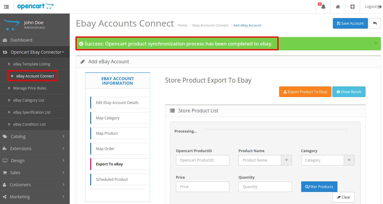 opencart-ebay-connector
