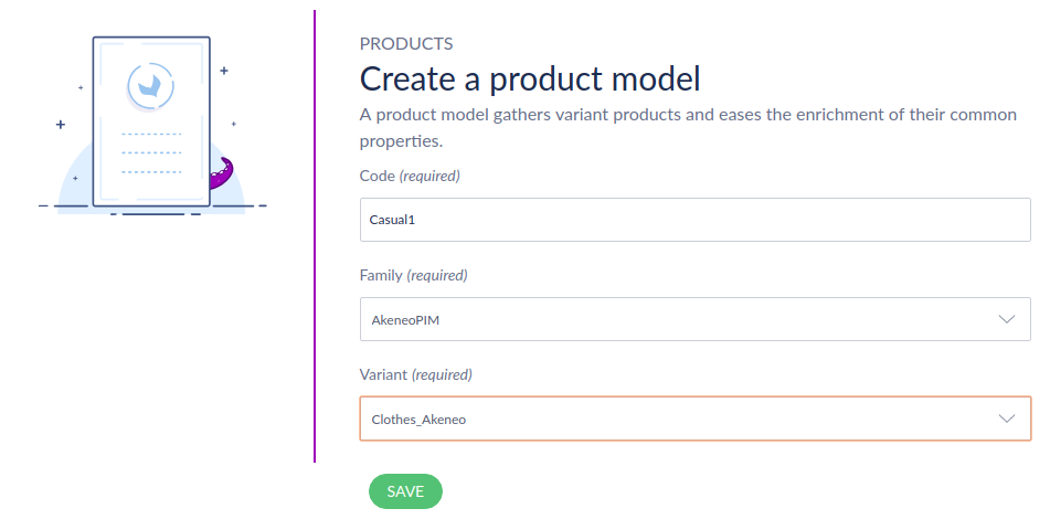 Setting for variant product