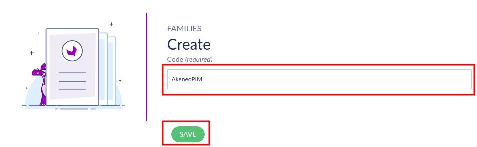 Create a family in Akeneo