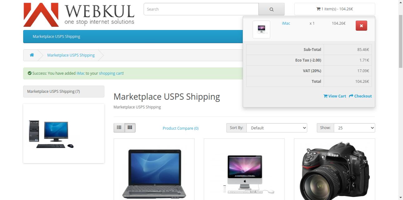 webkul-opencart-marketplace-usps-shipping-add-product-to-cart-1