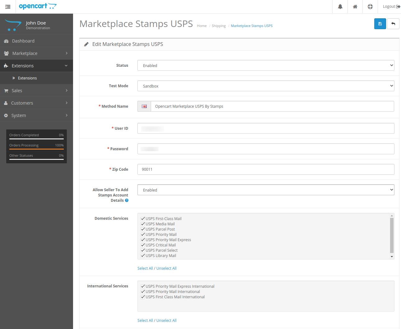 webkul-opencart-marketplace-usps-shipping-admin-configurations-part-1-1
