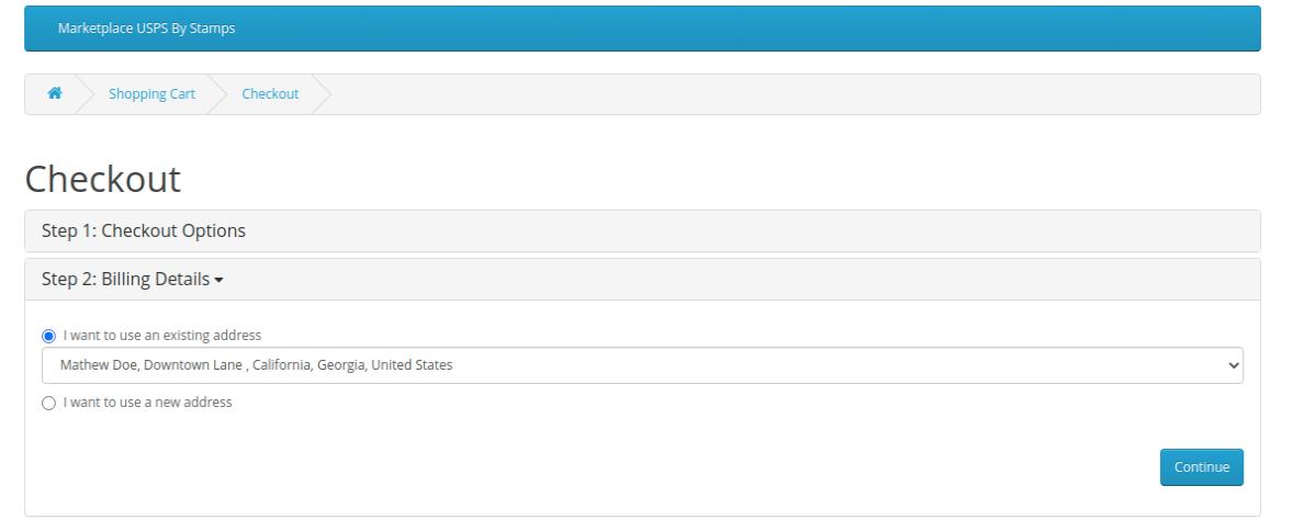 webkul-opencart-marketplace-usps-shipping-checkout-page