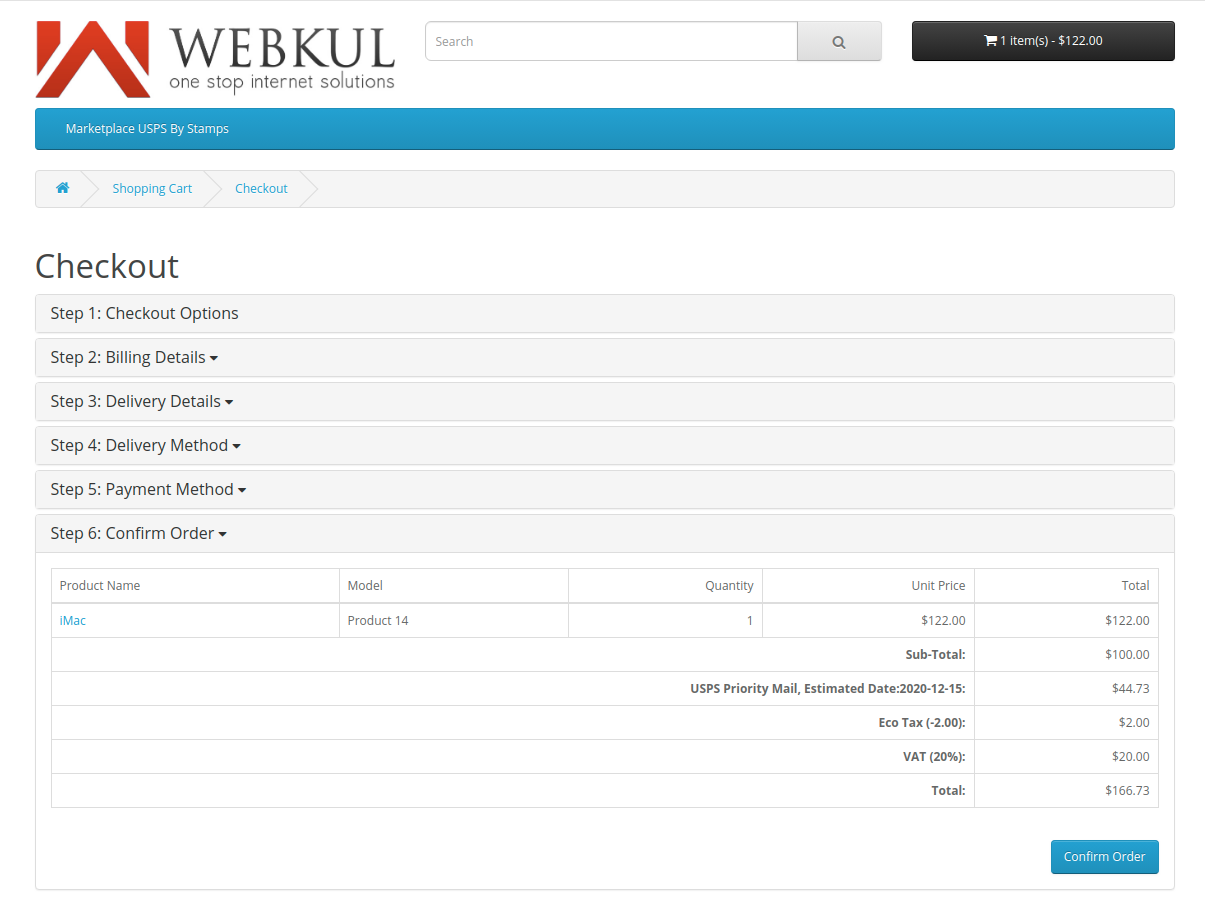 webkul-opencart-marketplace-usps-shipping-confirm-order