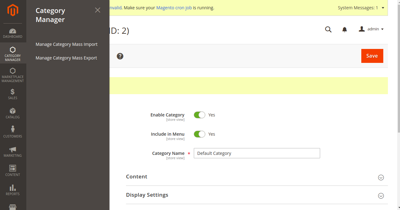 webkul-magento2-category-mass-upload-category-manager