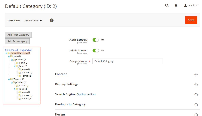 webkul-magento2-category-mass-upload-imported-categories