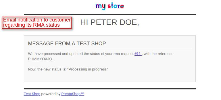 email to customer