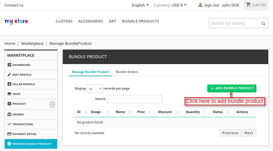 add bundle product