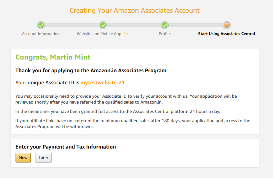 magento 2 amazon affiliate registration