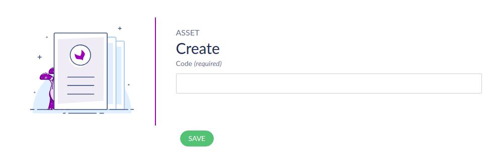 Create Asset Code