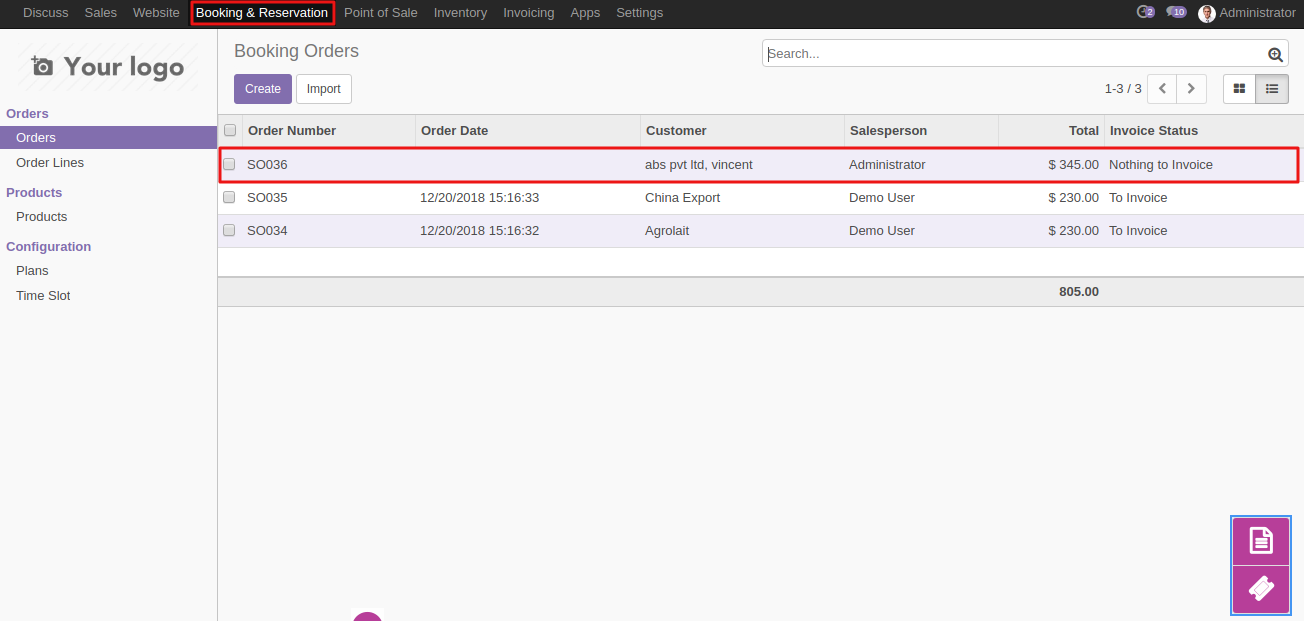 Booking a slot on Odoo website 3