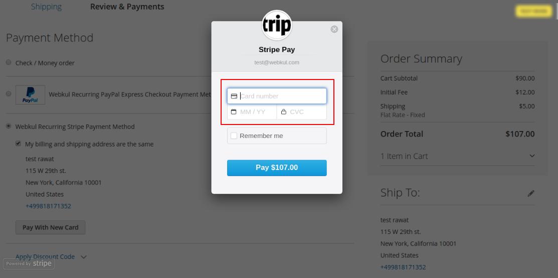 Magento2 Recurring Payment Subscription - Webkul stripe recurring login