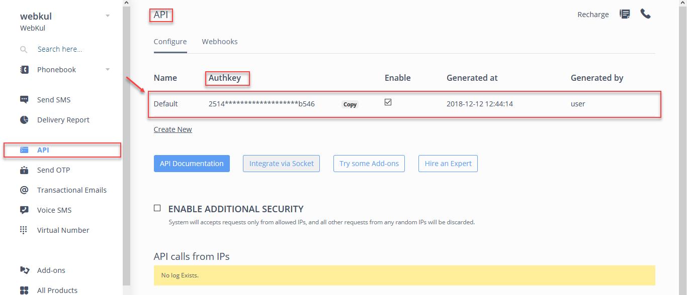 authentication token generation