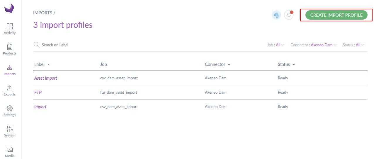 create import profile