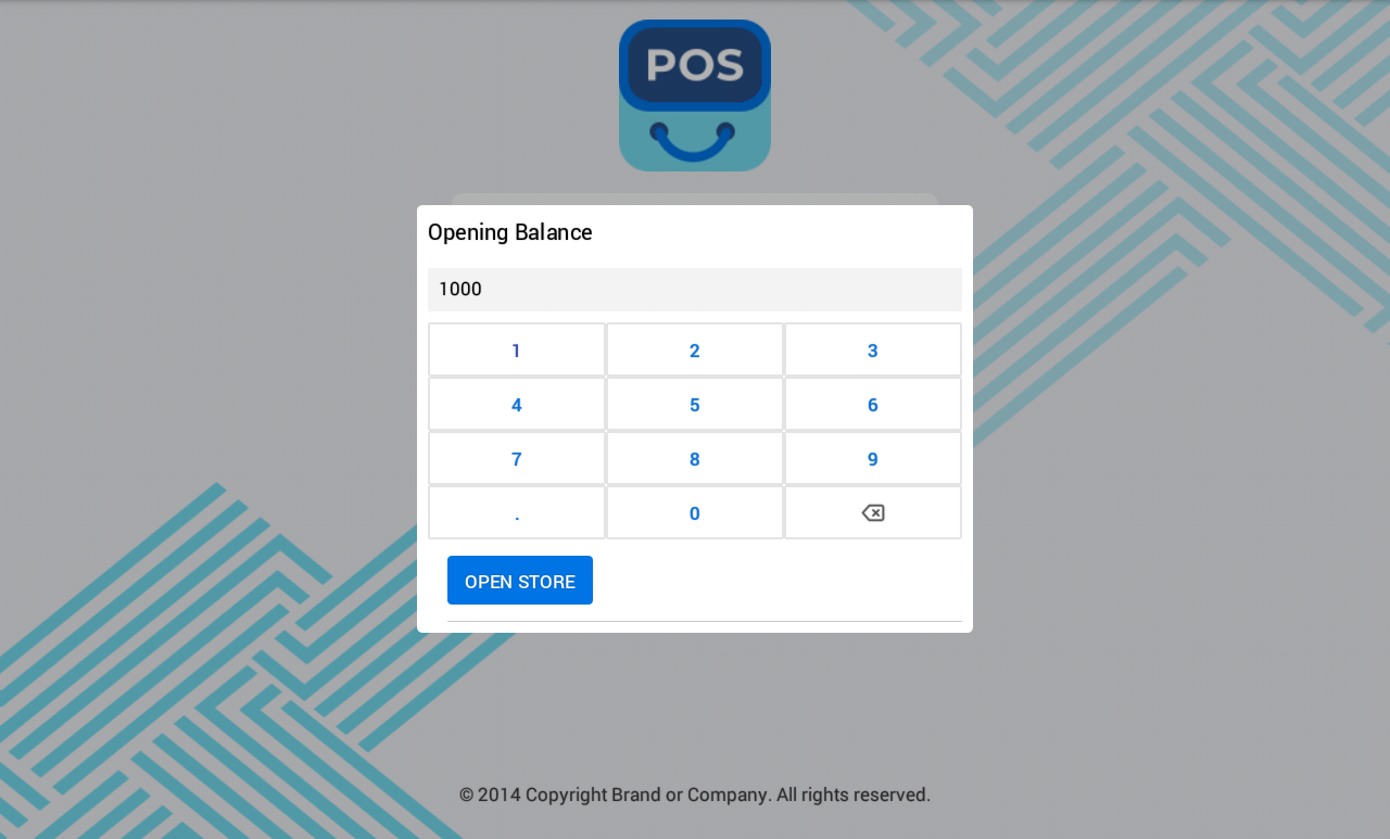 Opening Balance Magento 2 POS APP React Native
