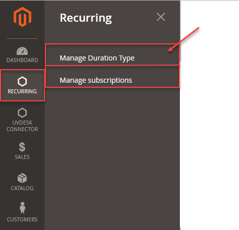 Magento2 Recurring Payment Subscription - recurring payments admin management