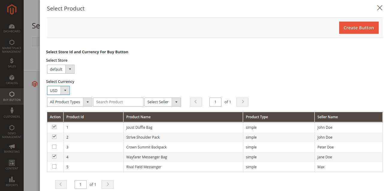 select multiple seller products