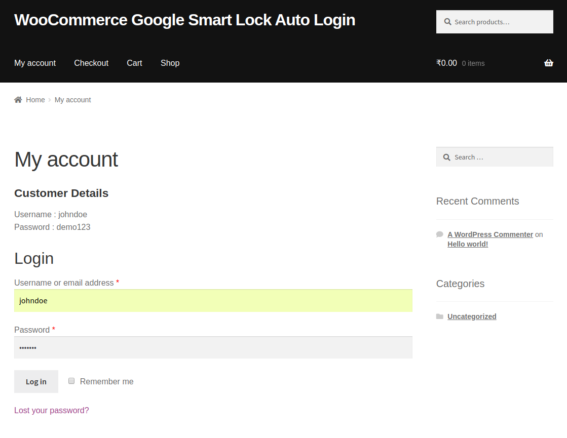 Chrome Auto Login for WooCommerce | Google Chrome Auto Login
